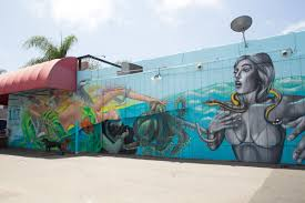 street art murals to explore along san diego coastal areas arts a mural by amanda lynn and carly ealey in encinitas which was part of pangeaseed foundation s sea walls murals for oceans courtesy photo