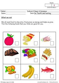 healthy food worksheets grade 2 क ल ए च त र