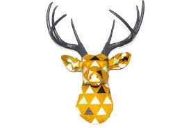 the isosceles faux taxidermy deer head wall mount fabric