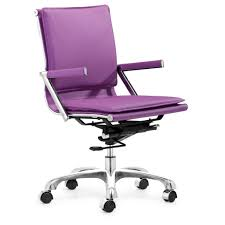 White Leather Office Chair Canada Furniture Purple Leather Desk Chair With Back And Arm Also Square