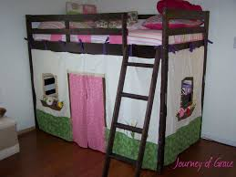 Make Cheap Loft Bed by Tutorial On How To Sew Little Fabric Walls For Your Bunk Loft Bed