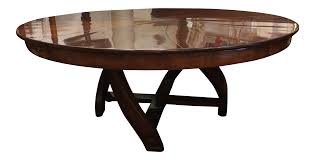 expanding round dining room table l u0027rossi expanding round dining table chairish