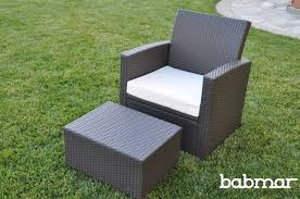 Patio Chairs With Ottomans Palomino All Weather Wicker Affordable Club Patio Chair With