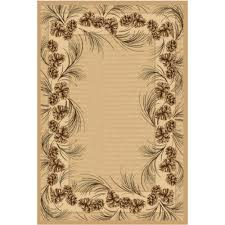 Pine Cone Area Rugs Balta Us Whispering Pine Beige 5 Ft 3 In X 7 Ft 5 In Area Rug