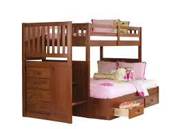 Forrester TwinFull Staircase Bunk Bed Badcock Home Furniture - Twin bunk bed dimensions