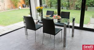 glass and chrome dining table naro clear glass and imola 4 seater dining set dining sets glass