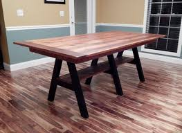 Rustic Handcrafted Barnwood Dining Table With Wrought Iron Base - Handcrafted dining room tables
