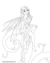 anime fairy coloring pages love colouring