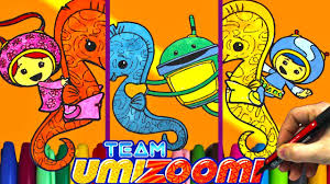 team umizoomi and sea horse coloring page team umizoomi coloring