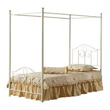 Metal Canopy Bed by Shop Hillsdale Furniture Westfield Off White Canopy Bed At Lowes Com