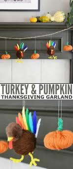 turkey and pumpkin thanksgiving garland diy craft projects