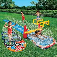 backyard water slides water slide inflatable obstacle course