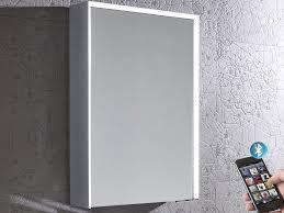 Bluetooth Bathroom Mirror Illuminated Bluetooth Bathroom Mirror Cabinet Roper