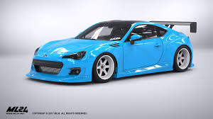 subaru brz custom ml24 2013 2016 subaru brz version 2 wide body kit automotive