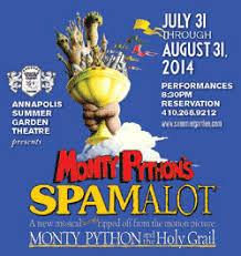 Summer Garden Theatre - spamalot opens at annapolis summer garden theatre eye on annapolis
