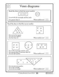 1st grade math worksheets venn diagrams part 3 venn diagrams