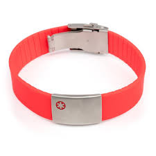 bracelet red images Medical id bracelet red icetags jpg