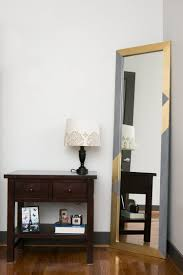 diy mirror frame with gold accents the home depot blog