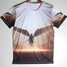 3d madagascar shirts men angel man shirt spandex short sleeves