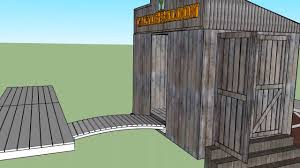 shed style architecture sketchup pro design of a shed in the old west style because i u0027m a