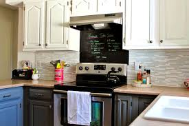 Chalkboard Kitchen Backsplash by Bathroom Lovely Grey And White Kitchen Makeover Light Cabinets