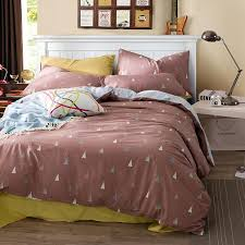 triangle bedding 100 cotton bedding bed sets double queen size kids 3 pcs triangle