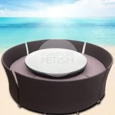 Coast Outdoor Furniture by Massive Round Outdoor Dining Set Sits Up To 12 Rattan Wicker