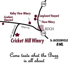 cricket hill winery the appegate wine trail