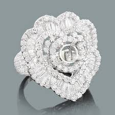heart shaped rings images Designer diamond ring mounting 3 62ct 18k heart shaped rings jpg