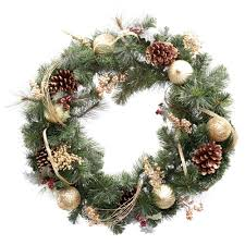 national tree company dunhill fir 30 in artificial wreath with