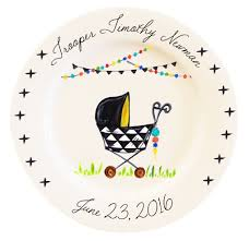 personalized baby plate personalized boho baby plate boy timree