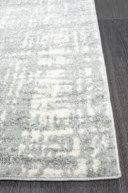Grey Runner Rug Rug Culture Mirage Abstract Modern Silver Grey Runner Rug
