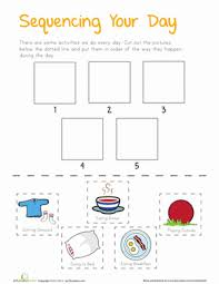 story sequence worksheets education com