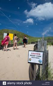 Massachusetts leisure travel images Truro massachusetts a sign warns of recent shark sightings at jpg