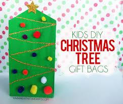 kids diy christmas tree gift bag i heart arts n crafts