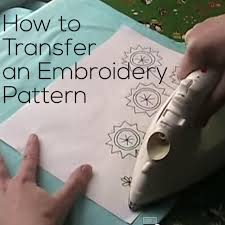 how to transfer embroidery patterns shiny happy world