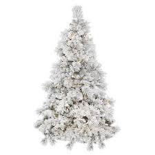 flocked christmas trees target