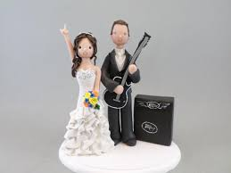 guitar cake topper wedding cake topper personalized groom with a guitar