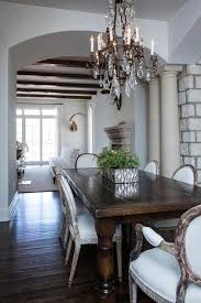 Dining Table Chandelier Dark Wood Dining Table With Gray French Dining Chairs French
