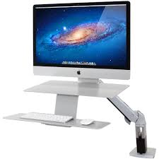 Ergotron Lx Hd Wall Mount Swing Arm Apple Compatible Ergotron 24 414 227 Workfit A Sit Stand Workstation