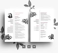 business card resume creative cv template business card cover by emilyartboutique