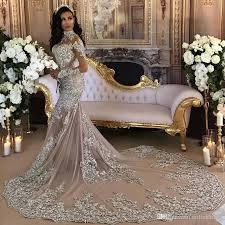 bling wedding dresses luxury sparkly 2018 mermaid wedding dress sheer bling beaded