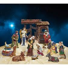 kirkland signature hand painted nativity set click to zoom