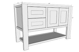 mission style open shelf bathroom vanity buildsomething com