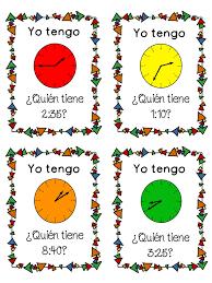 29 best elementary spanish time images on pinterest spanish 1