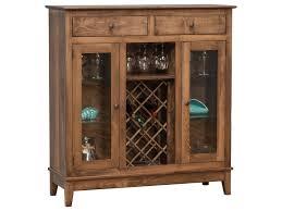 buckeye cabinets williamsburg va daniel s amish dining storage shaker wine cabinet with wine glass