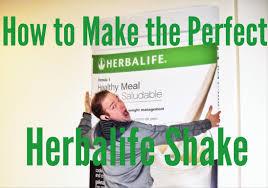how to make the perfect herbalife shake youtube