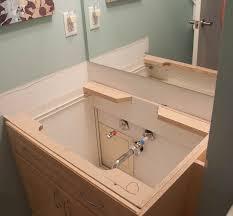 Bathroom Vanity Replacement Doors New Installing Bathroom Vanity Epic Regarding Replace Sink Prepare