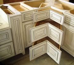 Square Corner Three Drawer Base Showplace Kitchen Convenience - Kitchen cabinets corner drawers