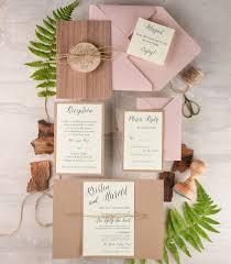 wedding invitation suite rustic wedding invitation and rsvp 20 real wood wedding